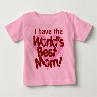 A melhor mamã dos mundos camiseta para bebê