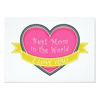 A melhor mamã no mundo convite personalizados