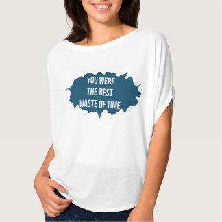 a melhor perda de tempo camiseta