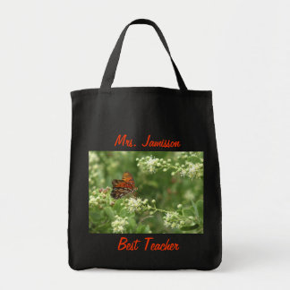 A melhor sacola do professor, apreciação, obrigado sacola tote de mercado
