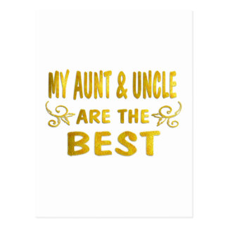 A melhores tia & tio cartões postais