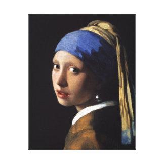 A menina com o brinco da pérola impressão de canvas esticadas