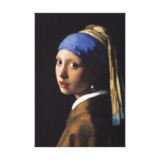 A menina com o brinco da pérola - canvas impressão em tela