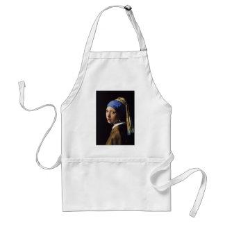 A menina com o brinco da pérola por Vermeer Avental