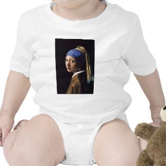 A menina com o brinco da pérola por Vermeer Babadores