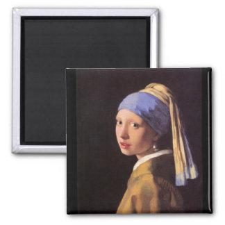 A menina com o brinco da pérola por Vermeer Imã De Geladeira