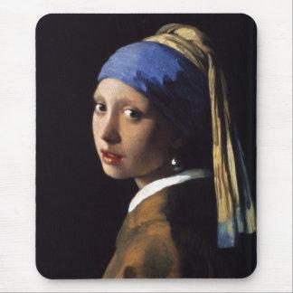 A menina com o brinco da pérola por Vermeer Mouse Pad