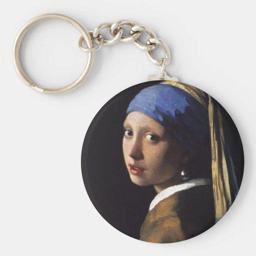 A menina com o brinco da pérola por Vermeer Chaveiros