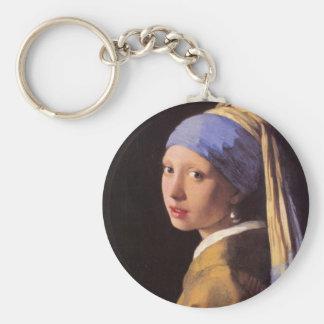 A menina com o brinco da pérola por Vermeer Chaveiro