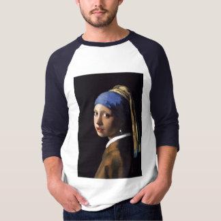 A menina com o brinco da pérola por Vermeer T-shirts