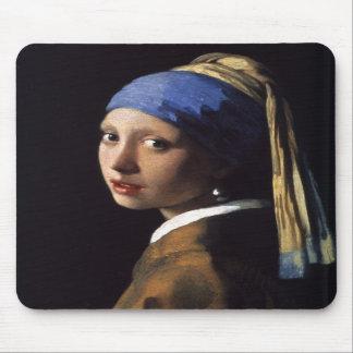 A menina com o brinco da pérola por Vermeer Mousepads