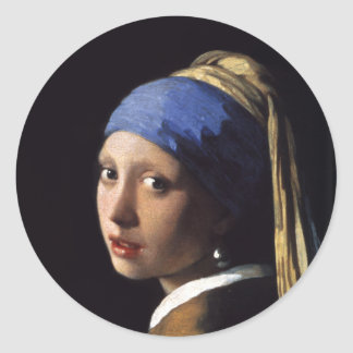 A menina com um brinco da pérola por Johannes Adesivo