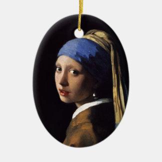 A menina com um brinco da pérola por Johannes Enfeite De Natal