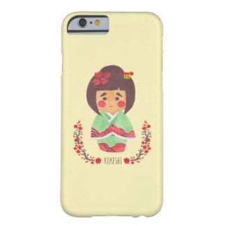 A menina de Kokeshi Capa Barely There Para iPhone 6