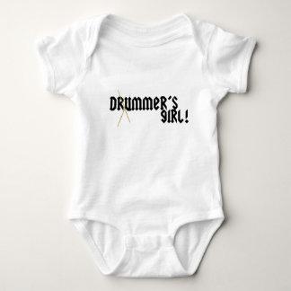 A menina do baterista! body para bebê