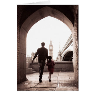 A menina do pai - Londres - cartão de Big Ben