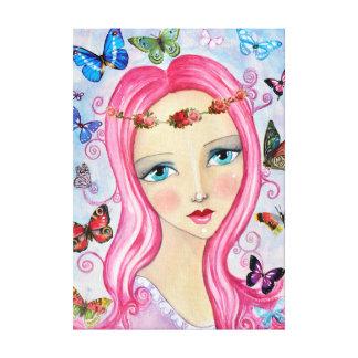 A menina e as canvas das borboletas