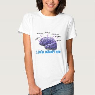 A mente do assistente social original dos t-shirts