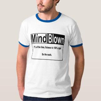 A mente = fundido, ciência é às vezes sempre t-shirt