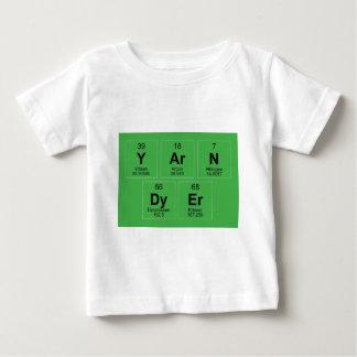 A mesa periódica do tintureiro do fio que quebra o camiseta para bebê