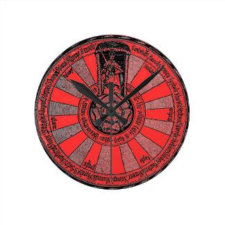 A mesa redonda de Arthur Relógio Redondo