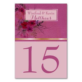 A mesa Wedding numera | aguarela floral