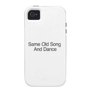 A mesma canção e dança velhas capinhas para iPhone 4/4S