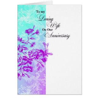A meu aniversário Loving da esposa Cartão Comemorativo