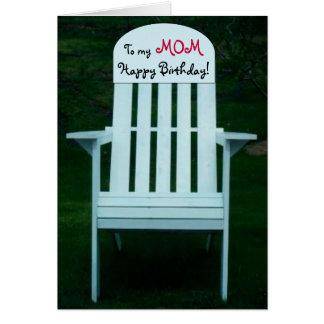 A meu cartão da cadeira do feliz aniversario da