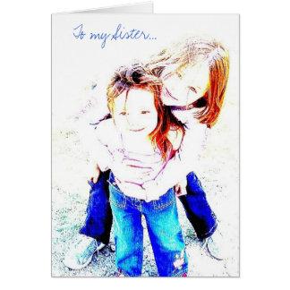 A meu cartão da irmã