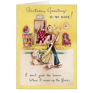 A meu cartão de aniversário da esposa