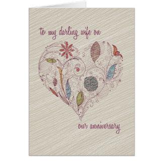 A meu cartão do aniversário da esposa