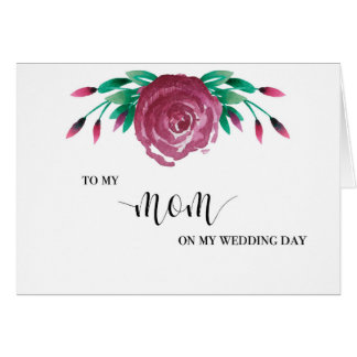 A meu cartão do dia do casamento da mamã