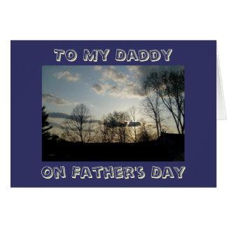 A meu pai, no dia dos pais cartao