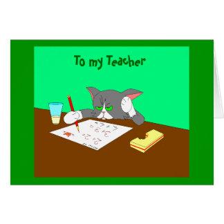 , A meu professor Cartão