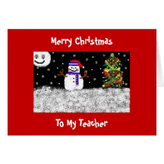 A meu professor, Feliz Natal Cartão