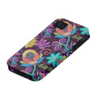 A miçanga de vidro colorida olha o design floral r capinhas para iPhone 4/4S