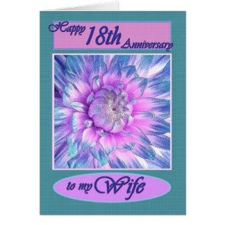 A minha esposa - 18o aniversário feliz cartao