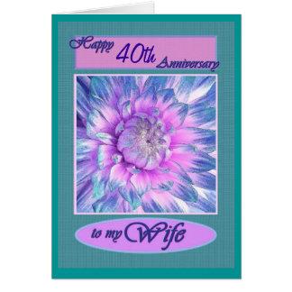 A minha esposa - 40th aniversário feliz cartão