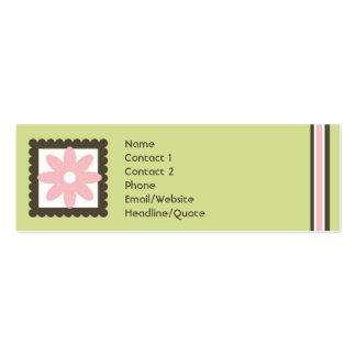 A mini margarida magro listra a chamada/cartão das cartão de visita skinny