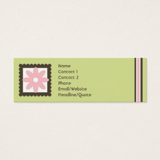 A mini margarida magro listra a chamada/cartão das cartão de visitas mini
