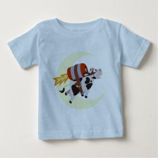 A missão bem sucedida da vaca sobre a lua camisetas