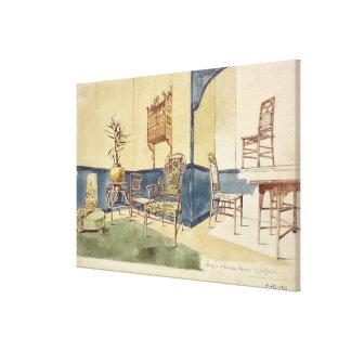 A mobília Anglo do estilo japonês projeta por Edwa Impressão Em Tela
