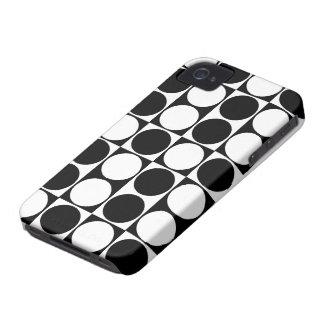 A modificação grande pontilha o iPhone preto & Capa Para iPhone 4 Case-Mate
