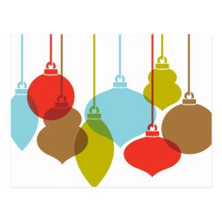 A modificação Ornaments o cartão retro do Natal
