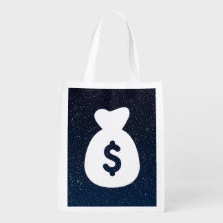 A moeda armazena a imagem gráfica sacolas ecológicas para supermercado