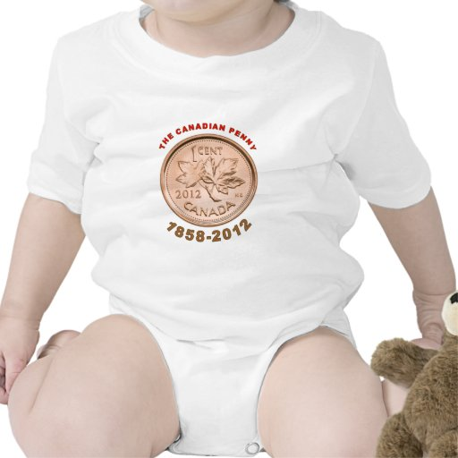 a moeda de um centavo canadense 1858-2012 t-shirt