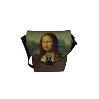 A Mona Lisa de Leonardo da Vinci Bolsas Mensageiro