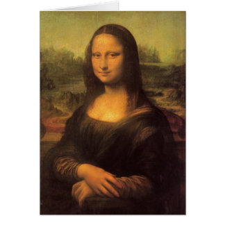 A Mona Lisa de Leonardo da Vinci Cartão