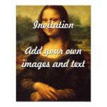 A Mona Lisa de Leonardo da Vinci Convite 10.79 X 13.97cm